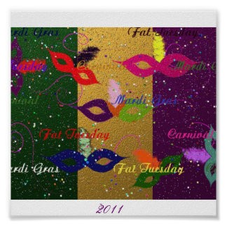 Mardi Gras Party, 2011 Posters