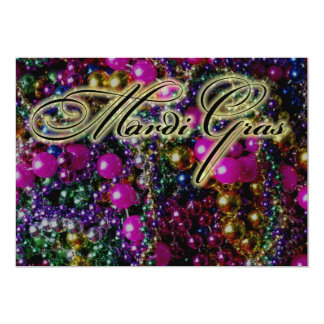 "Mardi Gras Party ""throws"" DARK invitation template"