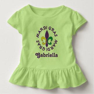 Mardi Gras Personalized Kids Toddler T-shirt Tee
