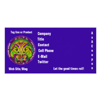 Mardi Gras Photo Business View Notes Please Photo Card
