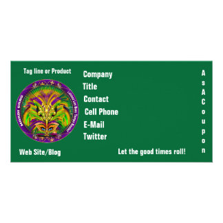 Mardi Gras Photo Business View Notes Please Photo Card Template