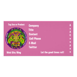 Mardi Gras Photo Business View Notes Please Photo Greeting Card