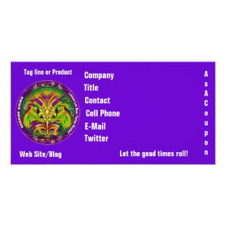 Mardi Gras Photo Business View Notes Please Custom Photo Card
