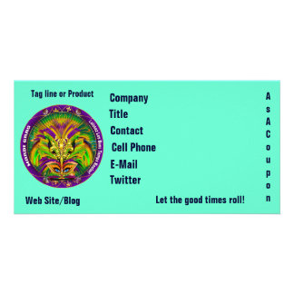 Mardi Gras Photo Business View Notes Please Personalized Photo Card