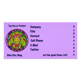 Mardi Gras Photo Business View Notes Please Customized Photo Card