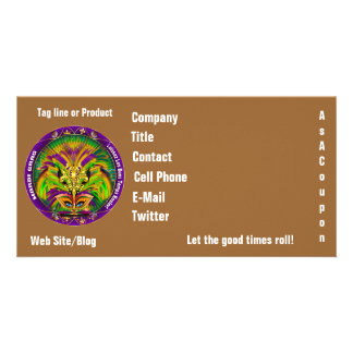 Mardi Gras Photo Business View Notes Please Picture Card