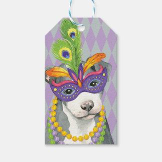 Mardi Gras Pit Bull Gift Tags