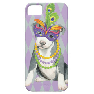Mardi Gras Pit Bull Terrier Case For The iPhone 5