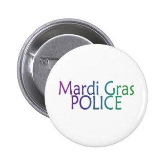 Mardi Gras Police 2 Inch Round Button