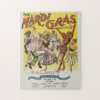 Mardi Gras Poster Jigsaw Puzzle