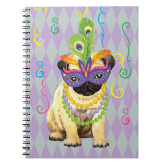 Mardi Gras Pug Notebook