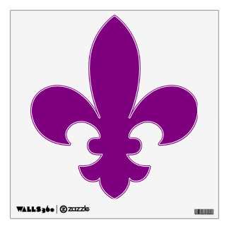 Mardi Gras Purple Fleur de Lis Wall Sticker