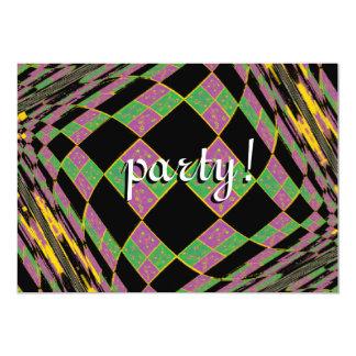Mardi Gras Purple, Green and Gold Argyle Card