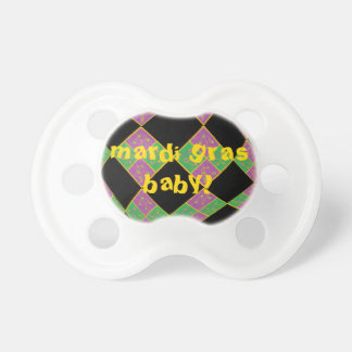 Mardi Gras Purple, Green and Gold Argyle Pacifier