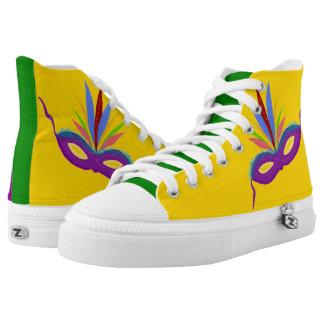 Mardi Gras Purple Green Gold Sneakers