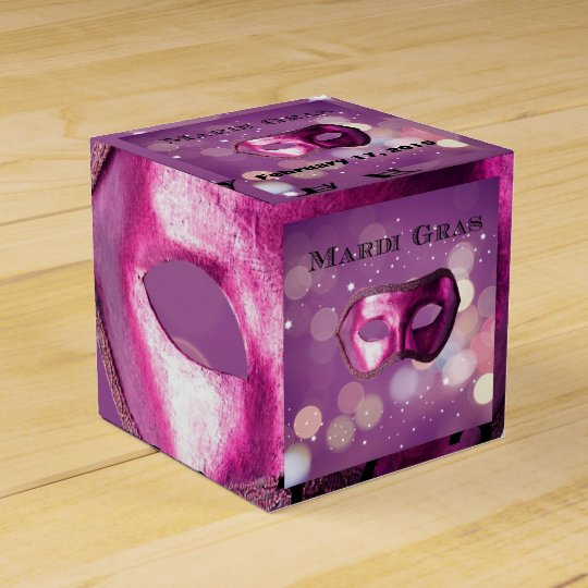 Mardi Gras Purple Mask Favour Boxes