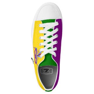 Mardi Gras Purple Mask Sneaker Shoes