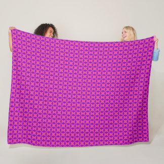 Mardi Gras Purple Satin Jester Star Pattern Fleece Blanket