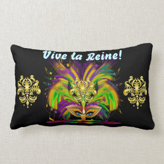 Mardi Gras Queen 1 Important Read About Design Lumbar Pillow
