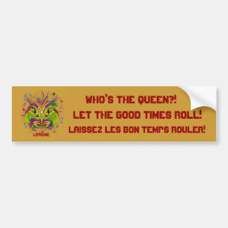 Mardi Gras Queen Style 3 View Notes Plse Bumper Sticker