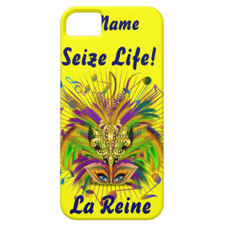 Mardi Gras Queen Style 3 View Notes Plse iPhone 5 Cases