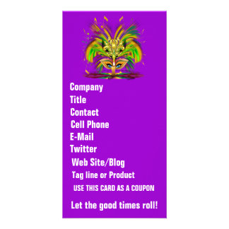 Mardi Gras Queen View Notes Please Customized Photo Card