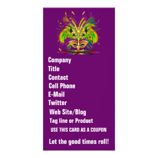 Mardi Gras Queen View Notes Please Personalized Photo Card