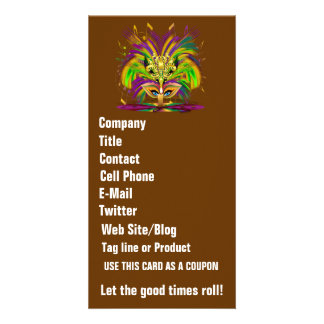 Mardi Gras Queen View Notes Please Photo Card