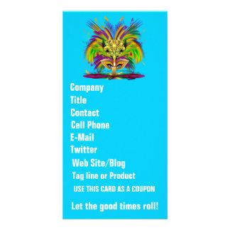 Mardi Gras Queen View Notes Please Photo Card Template