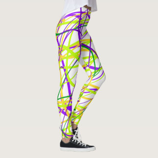 Mardi Gras Ribbon Leggings