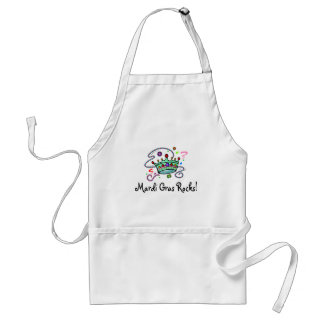Mardi Gras Rocks Crown Standard Apron