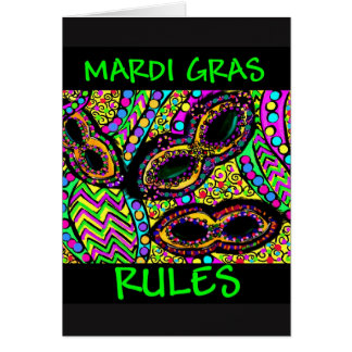 MARDI GRAS RULES CARD