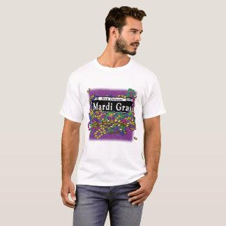 Mardi Gras Sign - tshirt purple