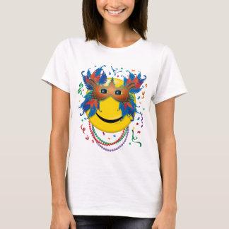 Mardi Gras Smiley Face T-Shirt