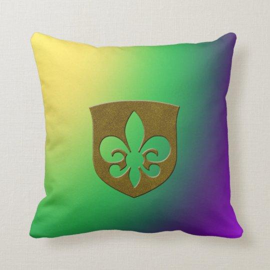 Mardi Gras Sovereign Throw Pillow