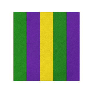 Mardi Gras Striped Pattern Canvas Print