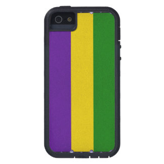 Mardi Gras Striped Pattern Case For The iPhone 5