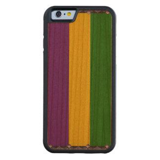 Mardi Gras Striped Pattern Cherry iPhone 6 Bumper Case