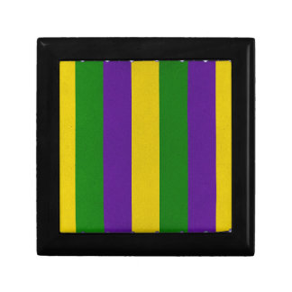 Mardi Gras Striped Pattern Gift Box