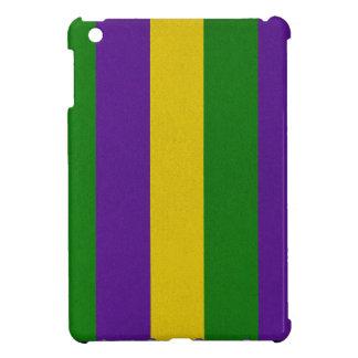 Mardi Gras Striped Pattern iPad Mini Covers