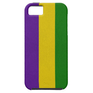 Mardi Gras Striped Pattern iPhone 5 Cases