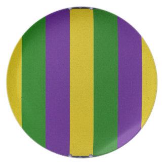 Mardi Gras Striped Pattern Plate
