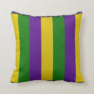 Mardi Gras Striped Pattern Throw Pillow