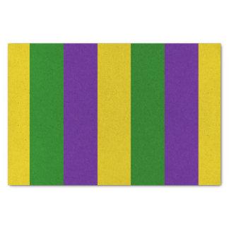Mardi Gras Striped Pattern Tissue Paper
