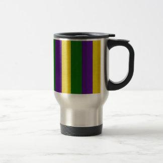 Mardi Gras Striped Pattern Travel Mug