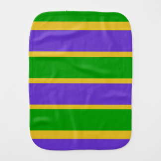 Mardi Gras Stripes Colors Burp Cloth