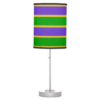 Mardi Gras Stripes Colors Table Lamp