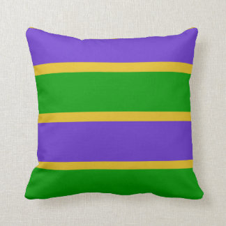 Mardi Gras Stripes Colors Throw Pillow