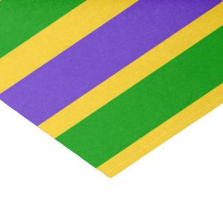Mardi Gras Stripes Colors Tissue Paper