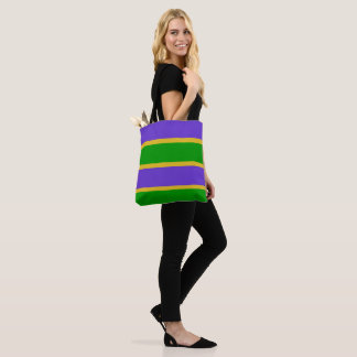 Mardi Gras Stripes Colors Tote Bag